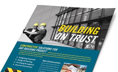 construction marketing brochures flyers postcards