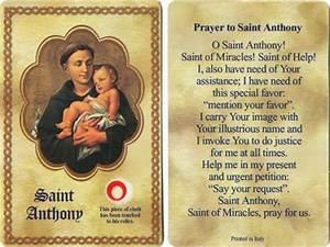 Polish Art Center - Saint Anthony Holy Card with 3rd class ...