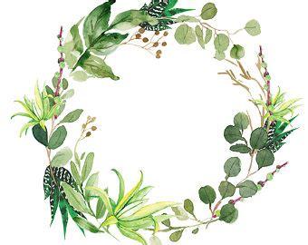 watercolor wreath etsy
