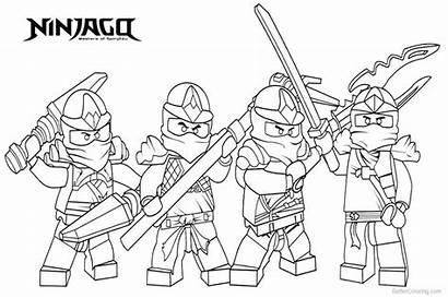 Ninjago Pages Characters Lego Coloring Printable Adults