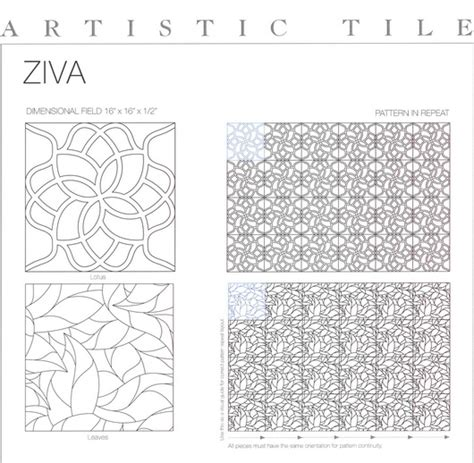 artistic tile ziva collection new products the