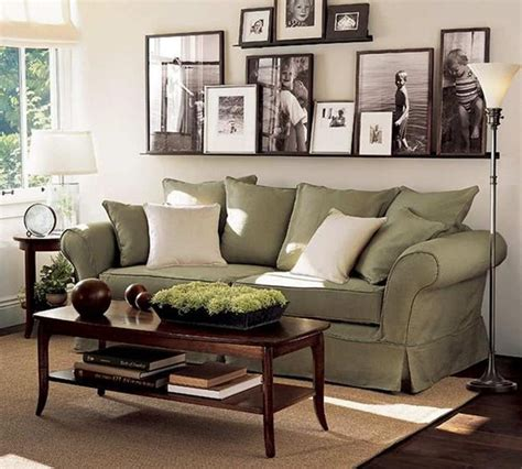 No coordinating, no matching pants to a top. Unique Wall Pictures for Impressive Family Room Wall Decorating Ideas Sage Green Couch With ...