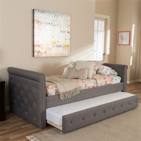 Shop gray twin bedroom sets for sale at rooms to go. Baxton Studio Swamson Modern and Contemporary Grey Fabric ...