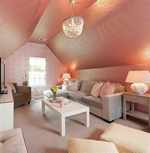 Cozy, And, Beautiful, Living, Room, In, Attic, 7802