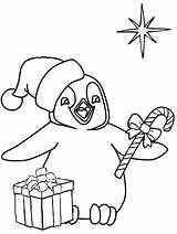 Penguin Coloring Christmas Pages Penguins Printable Coloringpagebook Animals Wallpapers9 Books Getcoloringpages Advertisement sketch template