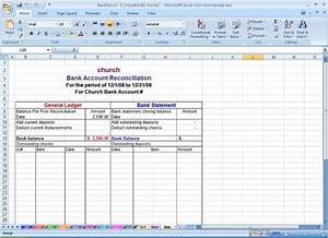 Small Church Budget Template Sample Bank Reconciliation Statement Format Microsoft