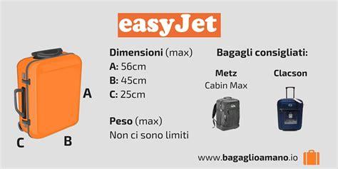 misure trolley cabina aereo bagaglio a mano easyjet misure dimensioni e peso easyjet