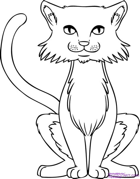 How To Draw Cats, Step By Step, Pets, Animals, Free Online