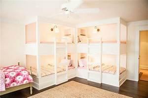 L Shaped Bunk Beds - Cottage - Girl's Room