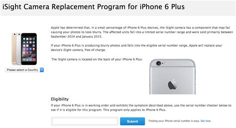 iphone replacement program blurry iphone 6 plus get free replacement at