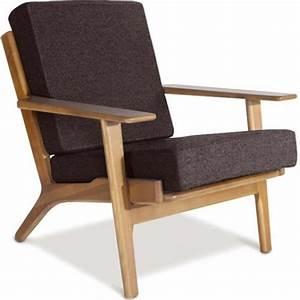 Fauteuil Bois Et Tissu : fauteuil bois et tissu anthracite buton ~ Melissatoandfro.com Idées de Décoration