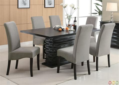 stanton semi formal gray  piece dining room furniture set