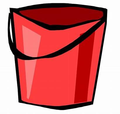 Bucket Clipart Pail Cartoon Clip Cliparts Transparent