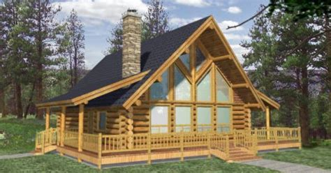 1800 sq.ft. Efficientr Style Log Home Log Design Coast