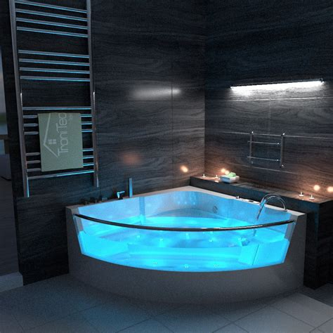 modern whirlpool bath  jacuzzi jet spa shower massage