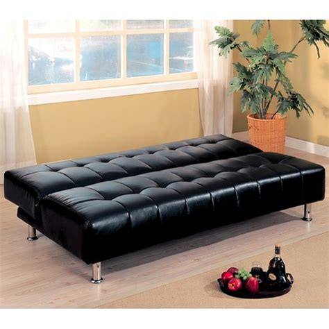 Leather Sofa Bed by Coaster 300118 Black Leather Sofa Bed A Sofa
