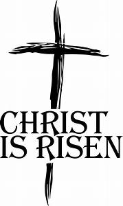 Christian easter religious clipart black and white easter ...