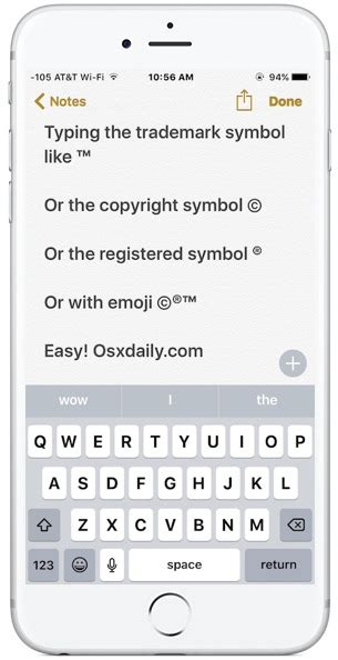 copyright symbol iphone how to type trademark copyright symbols on iphone and