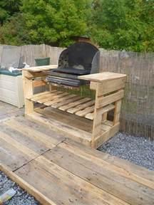 Meuble Barbecue Palette un barbecue avec des palettes meuble en palette meuble