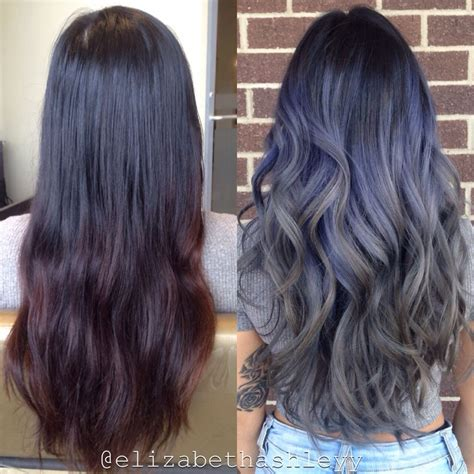 50s style hair for purple grey ombre hair find your hair style 9034