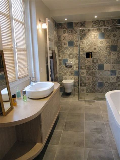 carreau salle de bain le carreau de ciment dans la salle de bain masalledebain