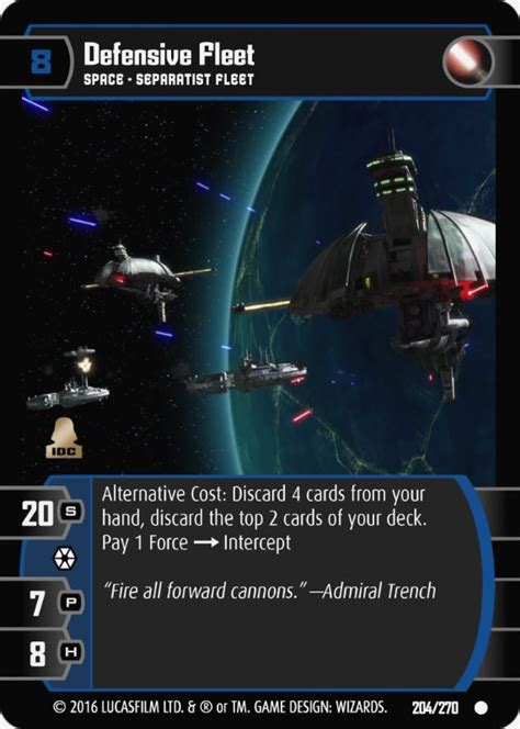 This video explains the fuel savings program offered by nastc through fleet one for truckers and owner operators. Defensive Fleet Card - Star Wars Trading Card Game
