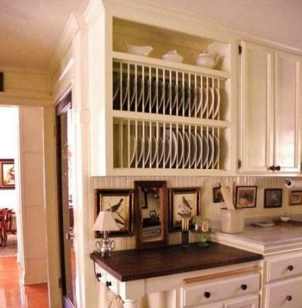 kitchen wood cabinets rustic plate racks  ideas   kitchen room country kitchen