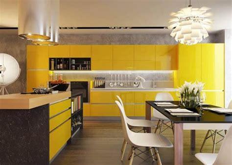 cuisine jaune cuisine jaune inspirations au travers de 7 modèles tendances
