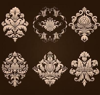 Damask Elements Floral Vector Ornamental Material Elegant