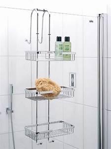 Haken Für Handtücher : hochwertiges h ngeregal f r die duschwand aus rostfreien edelstahl mit 3 ablagek rben und 4 ~ Buech-reservation.com Haus und Dekorationen