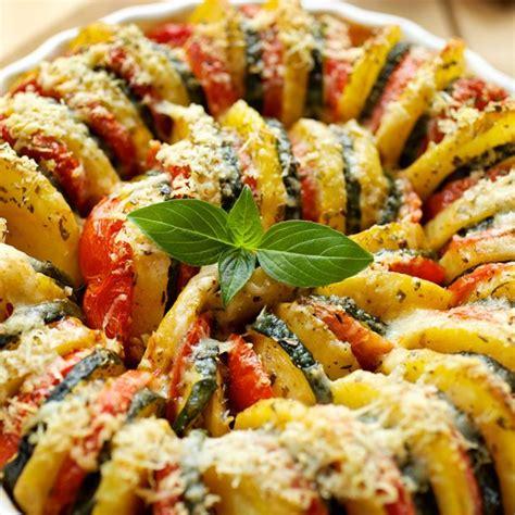 recette courgettes pommes de terre et tomates au four
