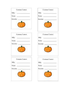 Cool Ballot Templates by Halloween Costume Contest Vote In 2018 Halloween