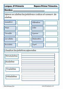 Fichas De Ejercicios De Lengua Cuarto Primaria