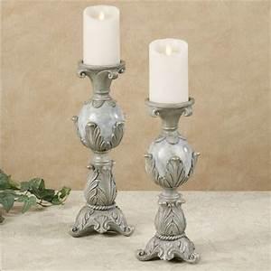 Lionna Acanthus Leaf Candleholder Set