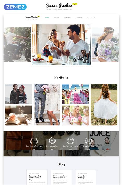 top   photography website bootstrap template   time