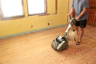Sanding and Staining Hardwood Floors