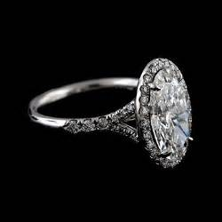 oval halo engagement rings white gold 2ct oval moissanite halo engagement ring orospot