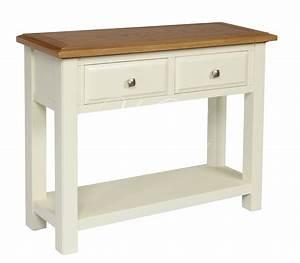 Ivory painted oak large telephone hall console table ebay for Telephone console table