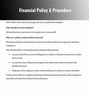 free download company policy template With finance sop template