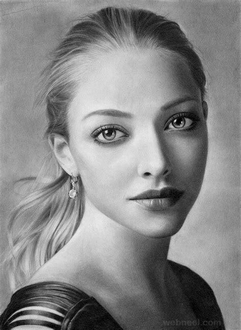 beautiful  realistic portrait drawings