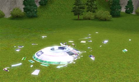My Sims 3 Blog: UFO Crash Conversion by The Ninth Wave