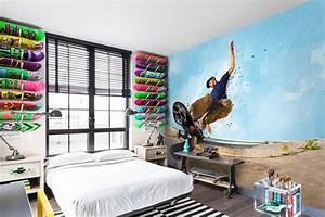 Papier Peint Ado : papier peint design chambre ado slide izoa ~ Dallasstarsshop.com Idées de Décoration