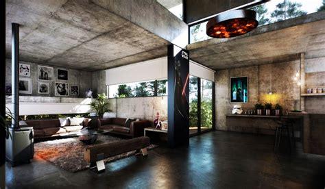 Exquisit Moderne Wohnstube Betonbau Modern Mit Sichtbetonw 228 Nden Und Decken Modenrs