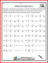 adding mixed numbers with different denominators 1000 images about education worksheets already made on math worksheets
