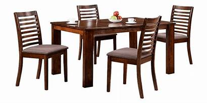 Dining Table Dinner Chair Seater Slatted Transitional