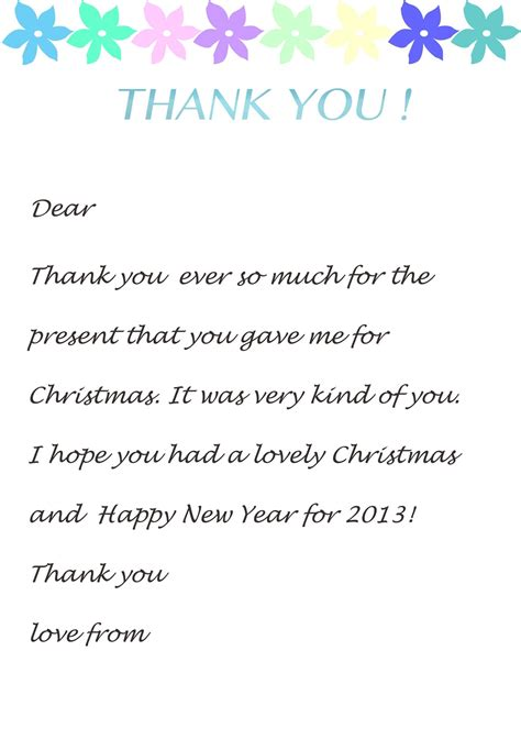 Thank You Letter Template by Thank You Letter Template For