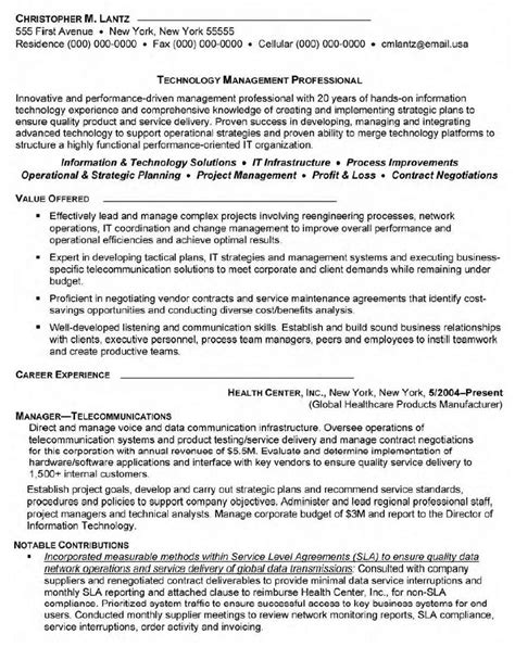 pin telecom resume exle sle telecommunications