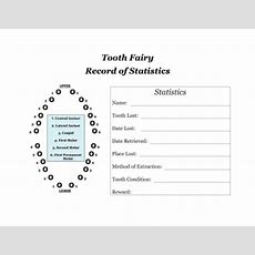 Printable Tooth Fairy Record Of Statistics