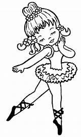 Coloring Pages Ballet Cliparts Trend Library Clipart Clip Dance Cute Baby sketch template