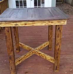 pallet high top bar table pub table by
